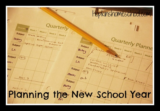 Planning the New School Year
