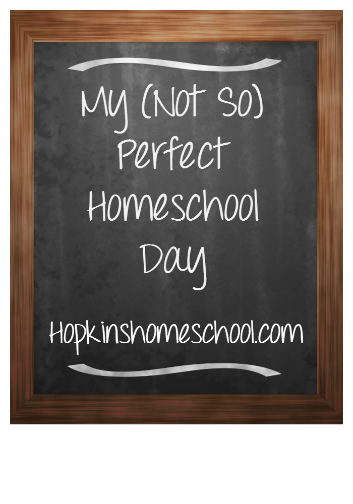 My (Not So) Perfect Homeschool Day