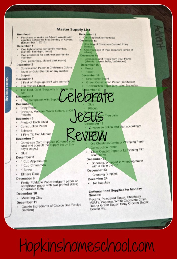Celebrate Jesus ~ Review and Giveaway