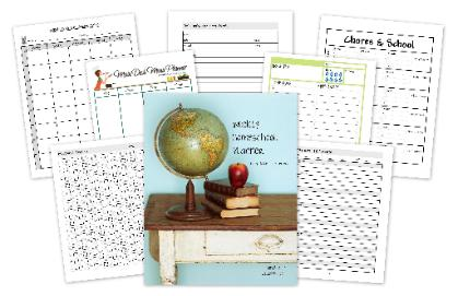 5 Days of Homeschooling Essentials ~ Daily Planners