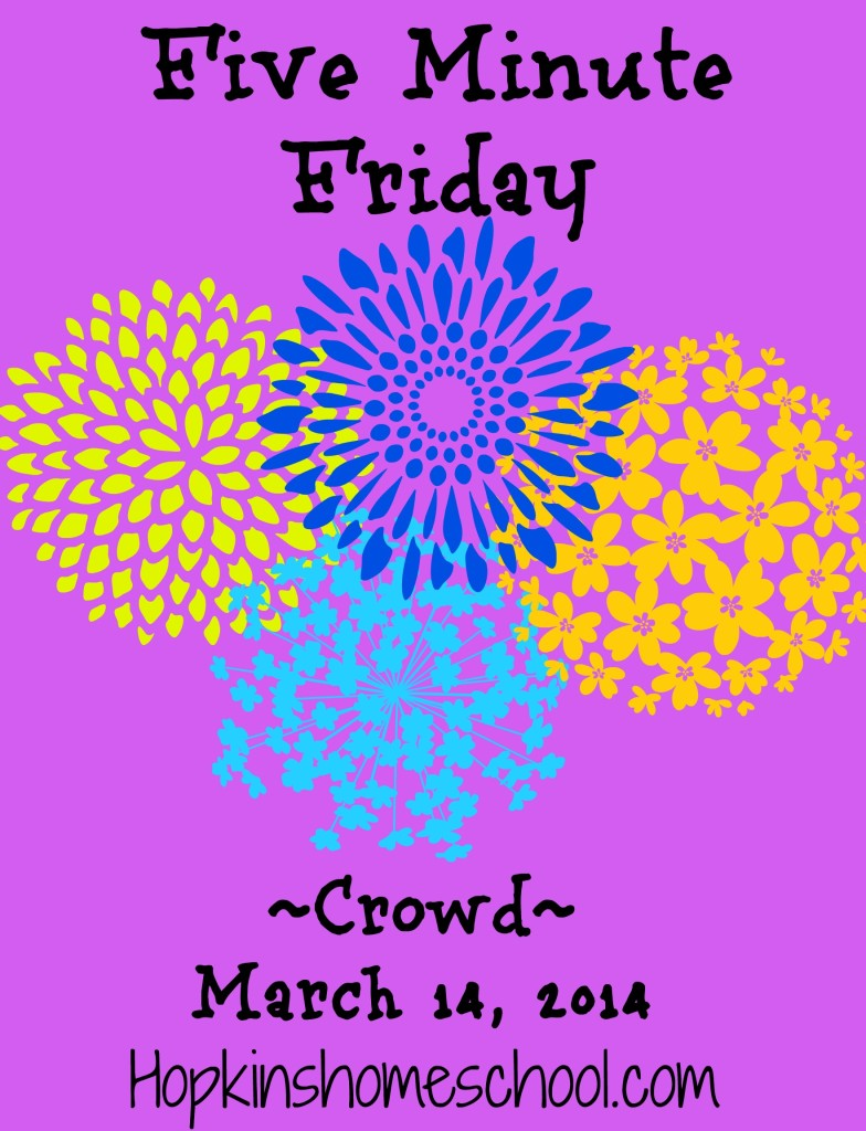 Five Minute Friday ~ Crowd