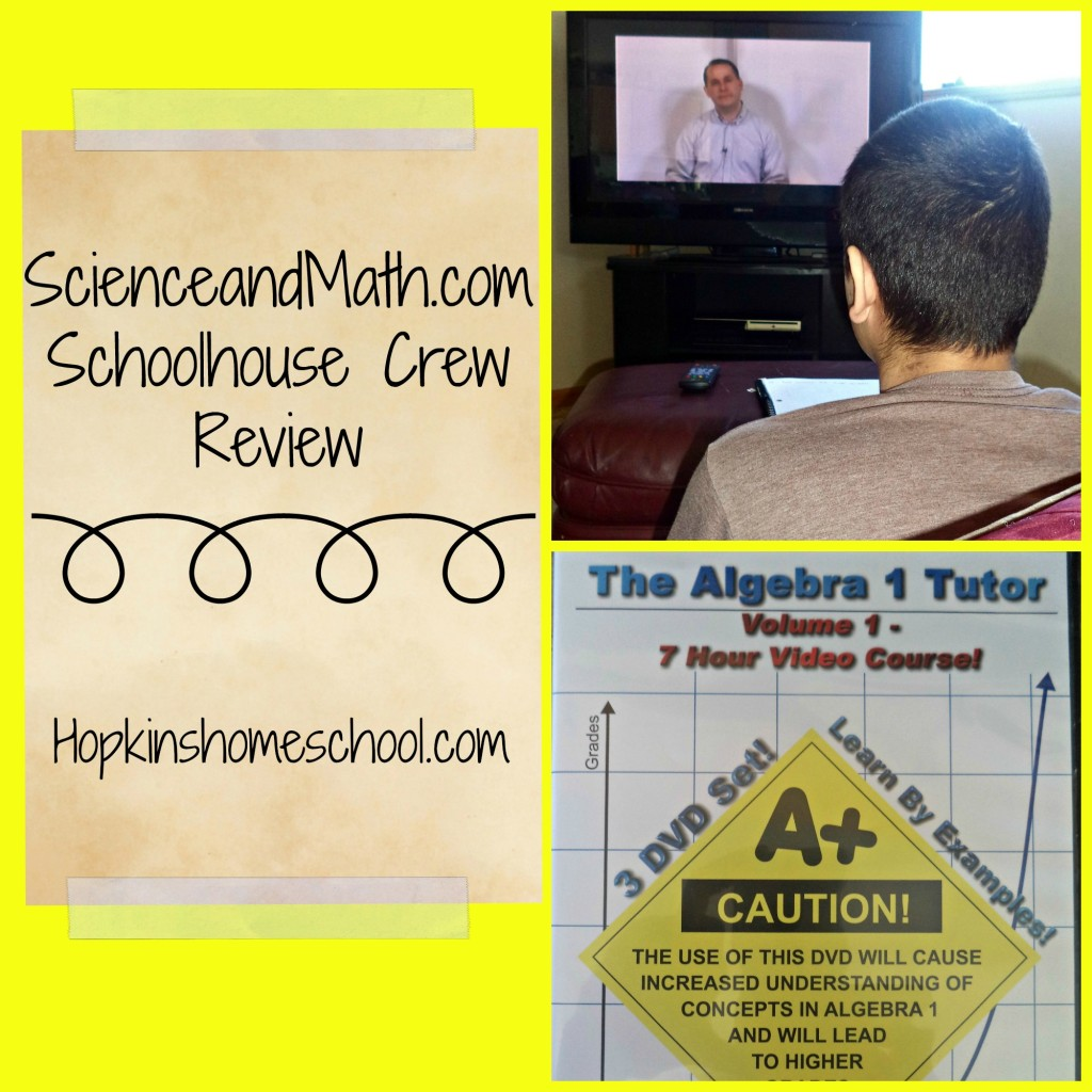 ScienceandMath.com Alegebra 1 Review (Schoolhouse Review)