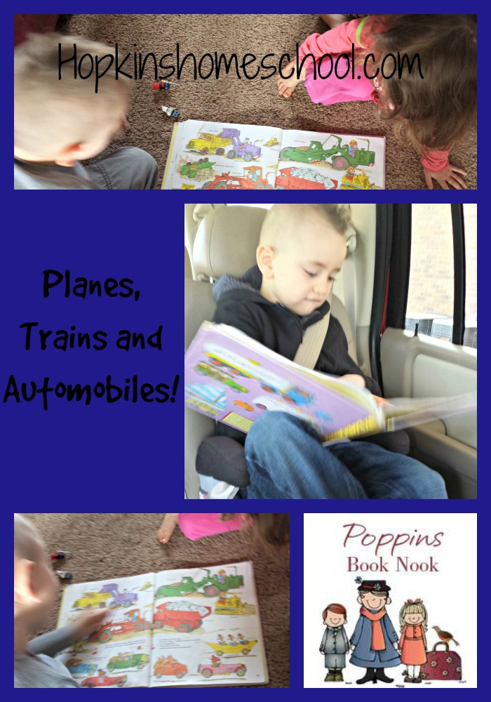 Poppins Book Nook ~ Planes, Trains and Automobiles