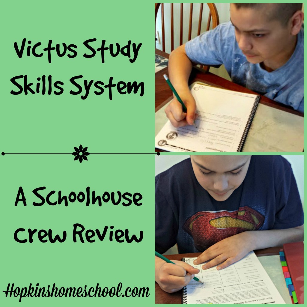 Victus Study Skills System ~ A Schoolhouse Crew Review