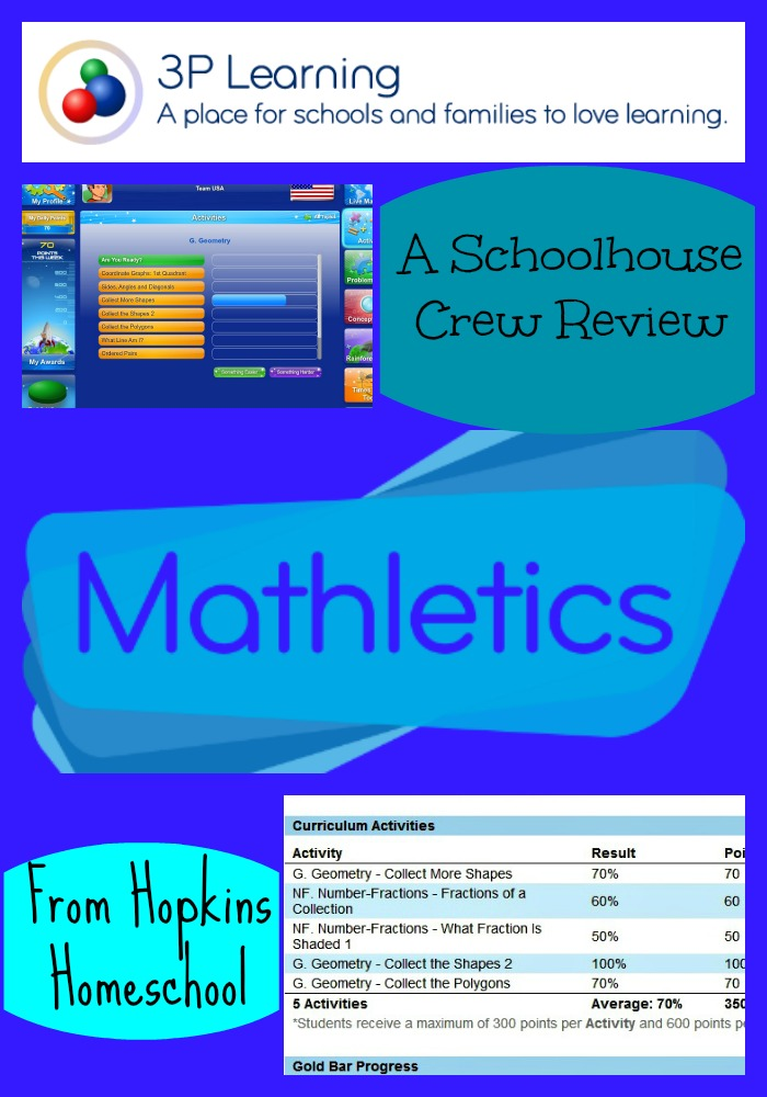 3P Learning Mathletics Review ~ A Schoolhouse Crew Review