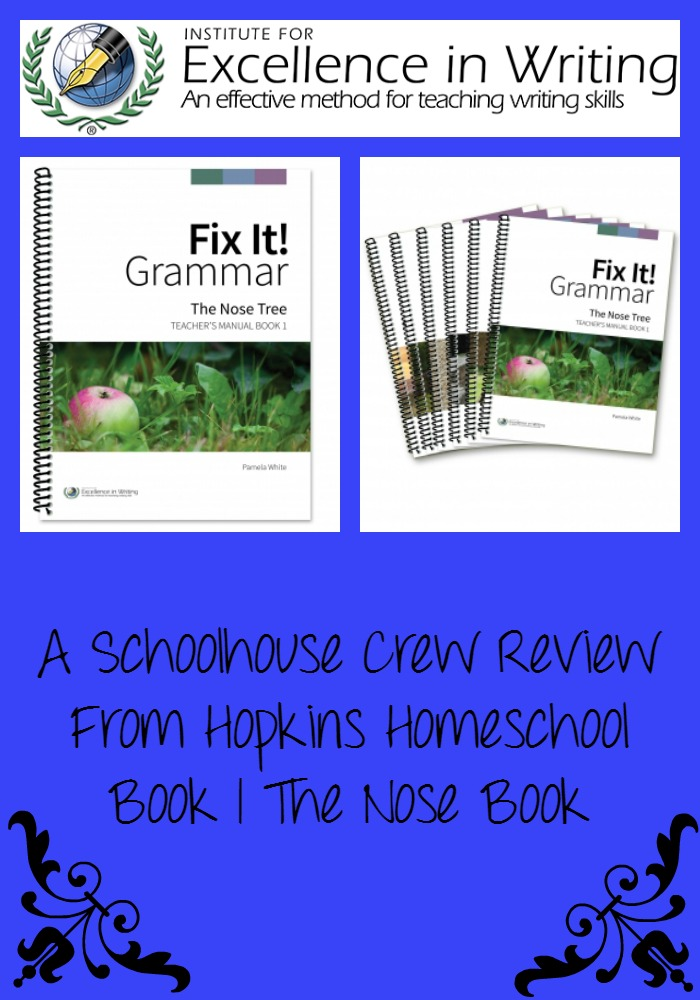 Fix It! Grammar from IEW ~ A Schoolhouse Crew Review