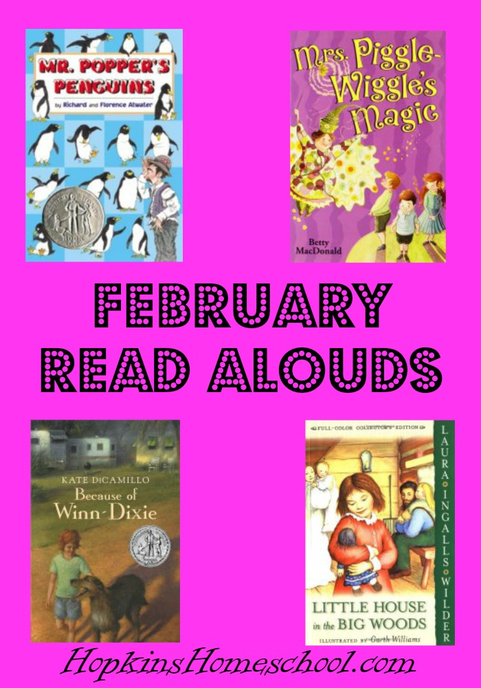 February Read Alouds at Hopkins Homeschool
