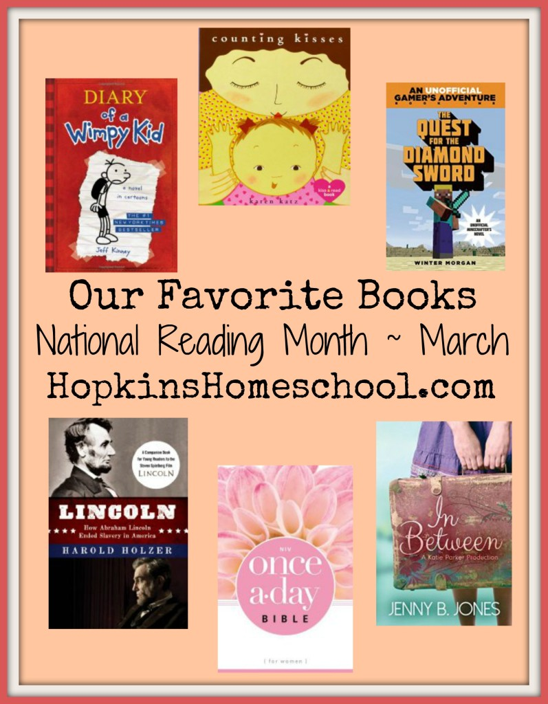 Our Favorite Books ~ National Reading Month