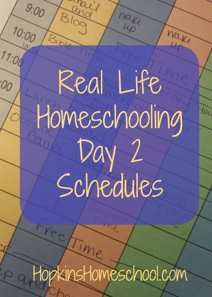 Real Life Homeschool – Schedules