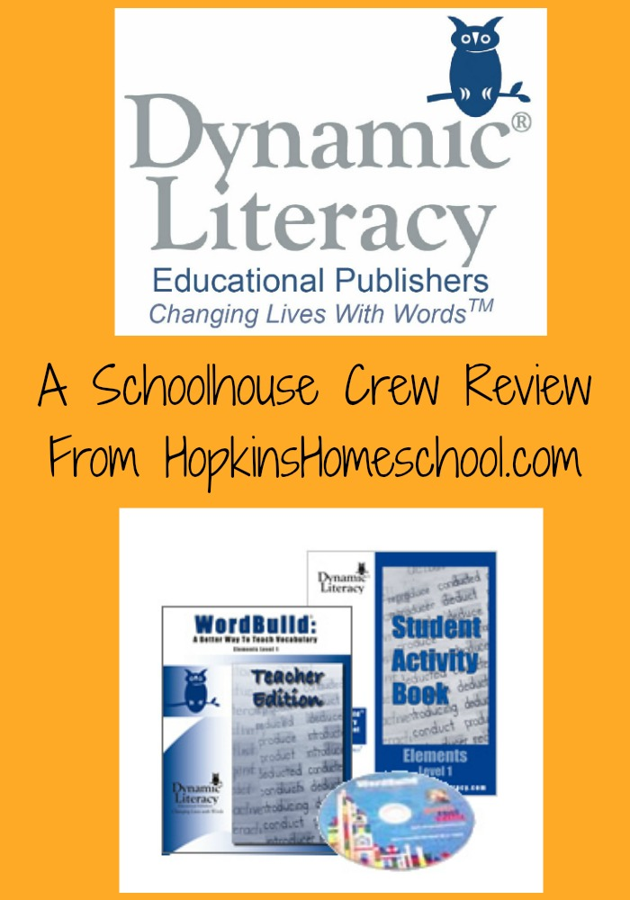 Dynamic Literacy ~ A Homeschool Crew Review