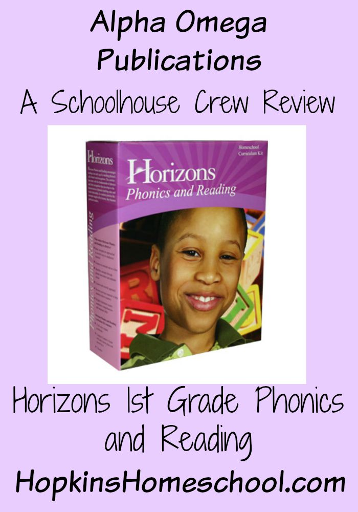 Alpha Omega Publications 1st Grade Phonic and Reading ~ A Schoolhouse Crew Review
