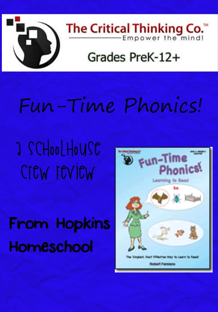 Fun-Time Phonics from The Critical Thinking Company ~ A Schoolhouse Crew Review