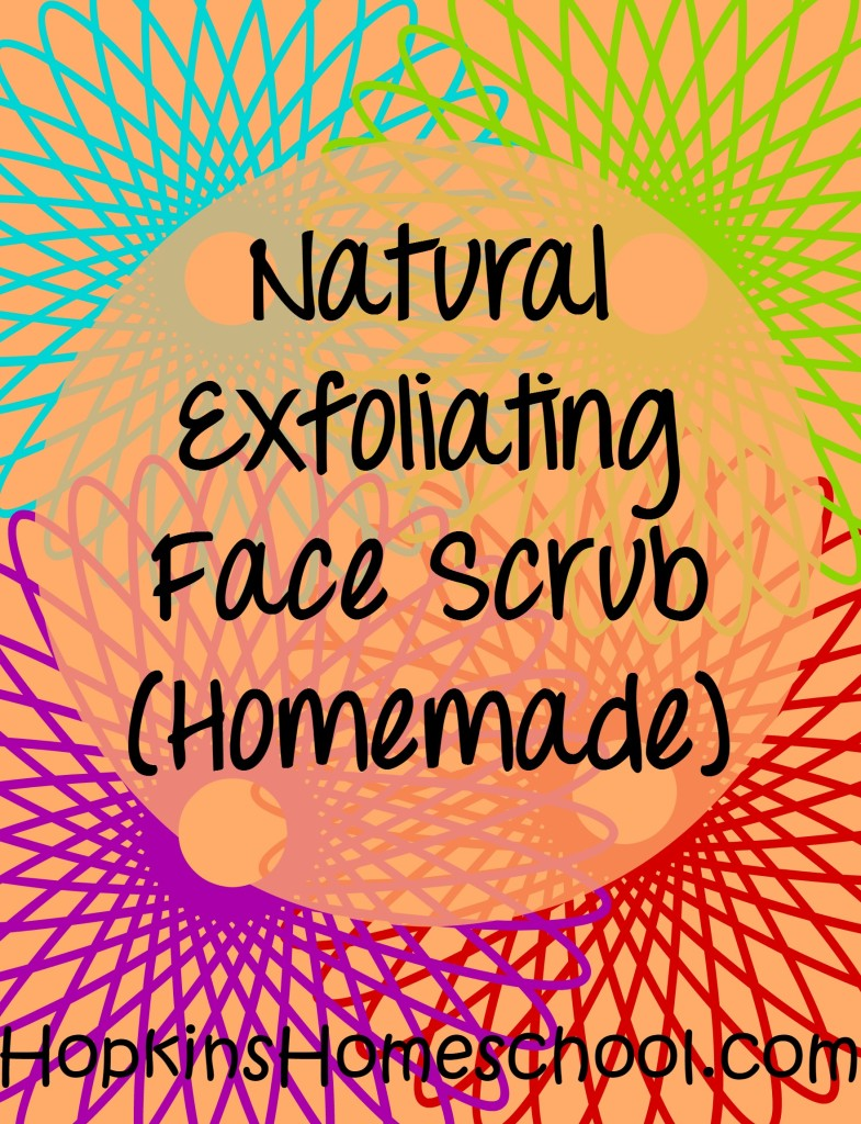 Natural Exfoliating Face Scrub ~ Wellness Wednesday