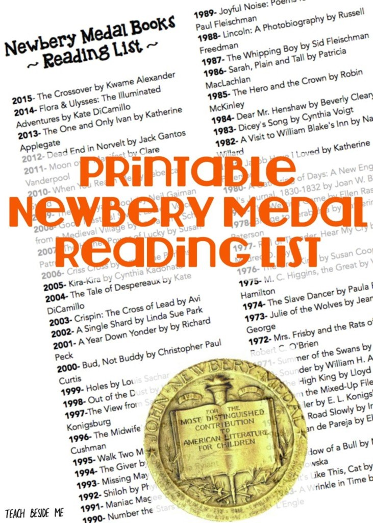 Newbery Medal Books Reading List