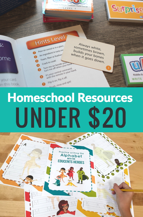 10+ Homeschool Resources Under $20