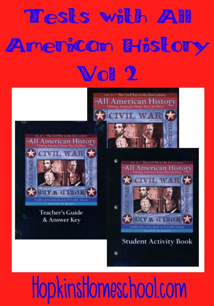 All American History Vol 2 High School Test Packet