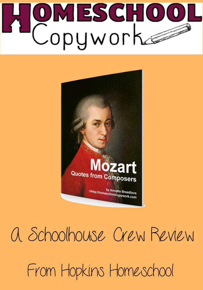 Homeschool Copywork ~ A Schoolhouse Crew Review