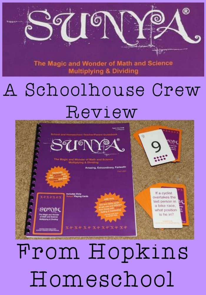 Sunya ~ A Schoolhouse Crew Review