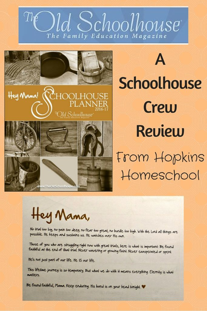 A Schoolhouse Crew Review