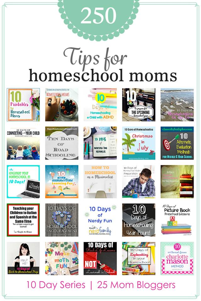 10 Days of Homeschooling Tips