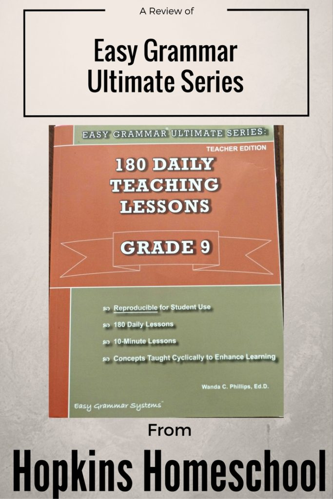 Easy Grammar Grade 9 ~ A Review