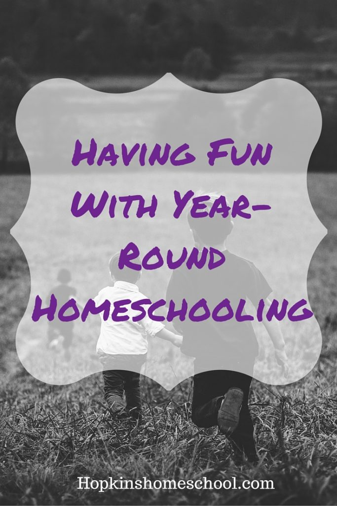 Just Have Fun With Year-Round Homeschooling