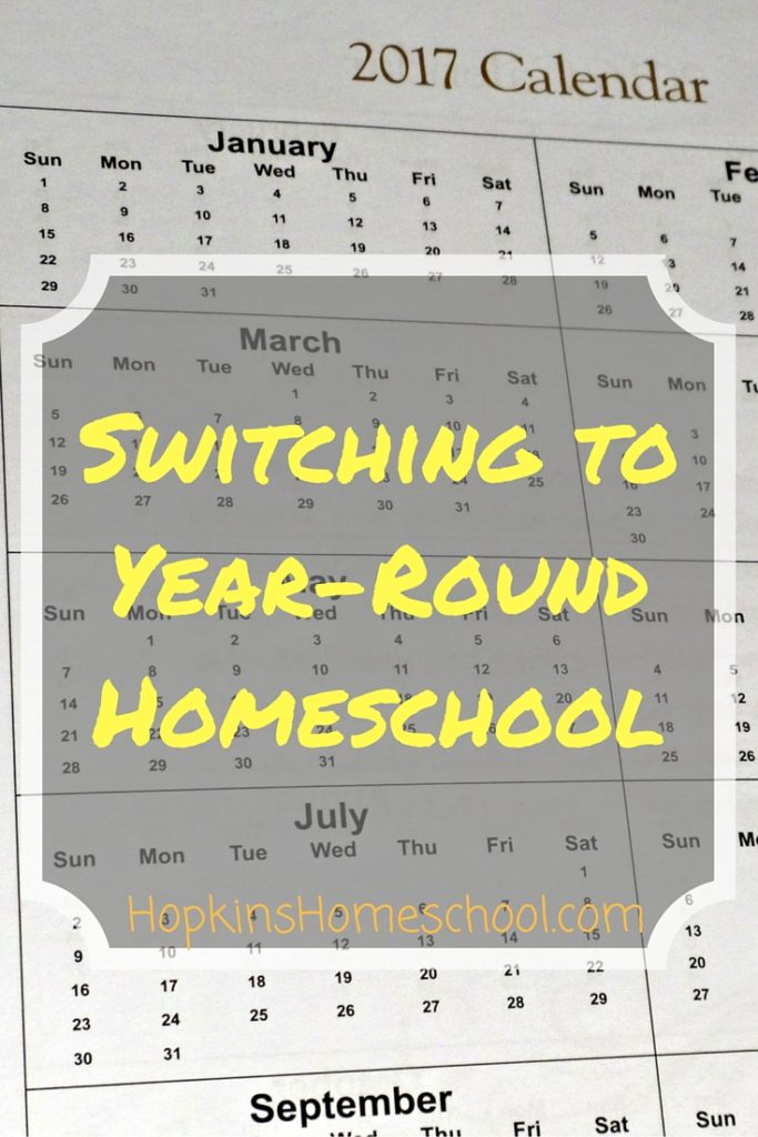 Switching to Year-Round Homeschooling