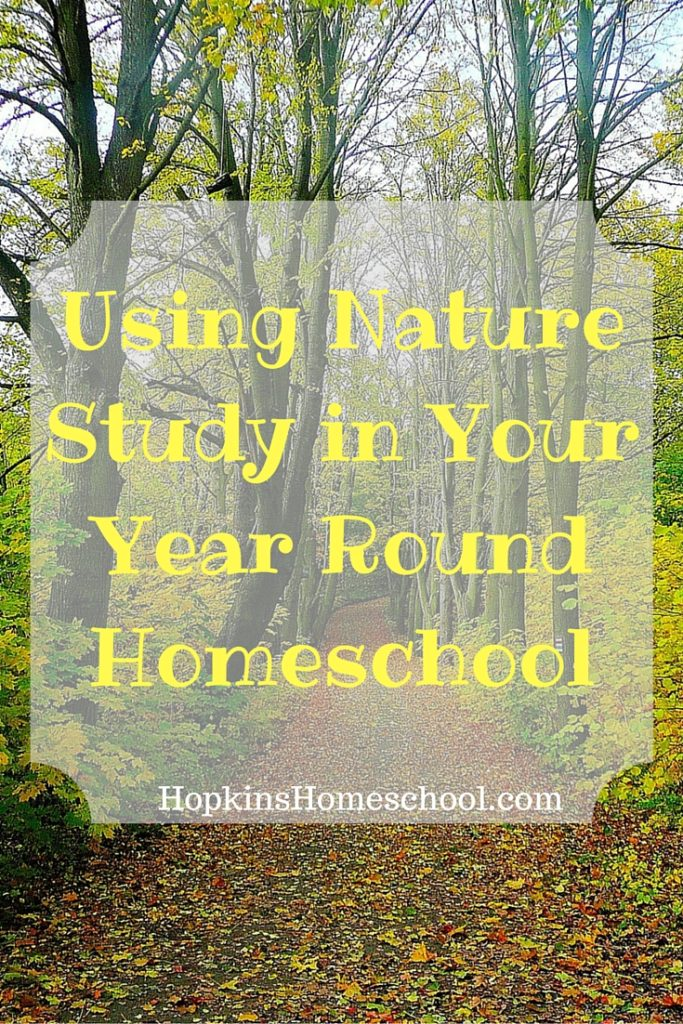 Using Nature Study in Year Round Homeschooling