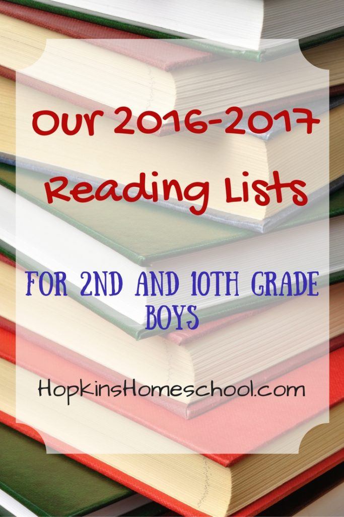 Our 2016-2017 Book Lists