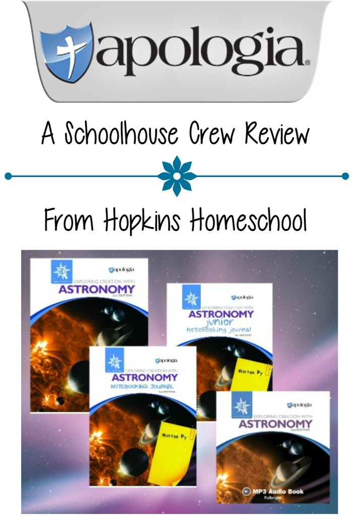 Apologia Creation Astronomy ~ A Schoolhouse Crew Review