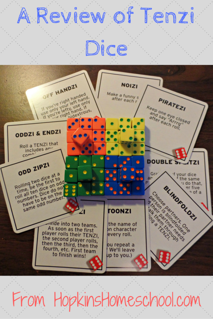 picture about 77 Ways to Play Tenzi Printable named TENZI Cube Match and Card Deck ~ A Assessment - Hopkins Homeschool
