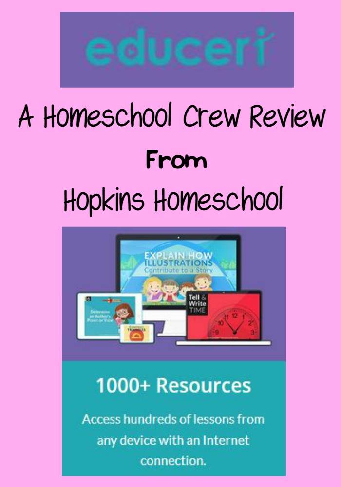 Educeri Ready to Teach Lessons ~ A Homeschool Crew Review