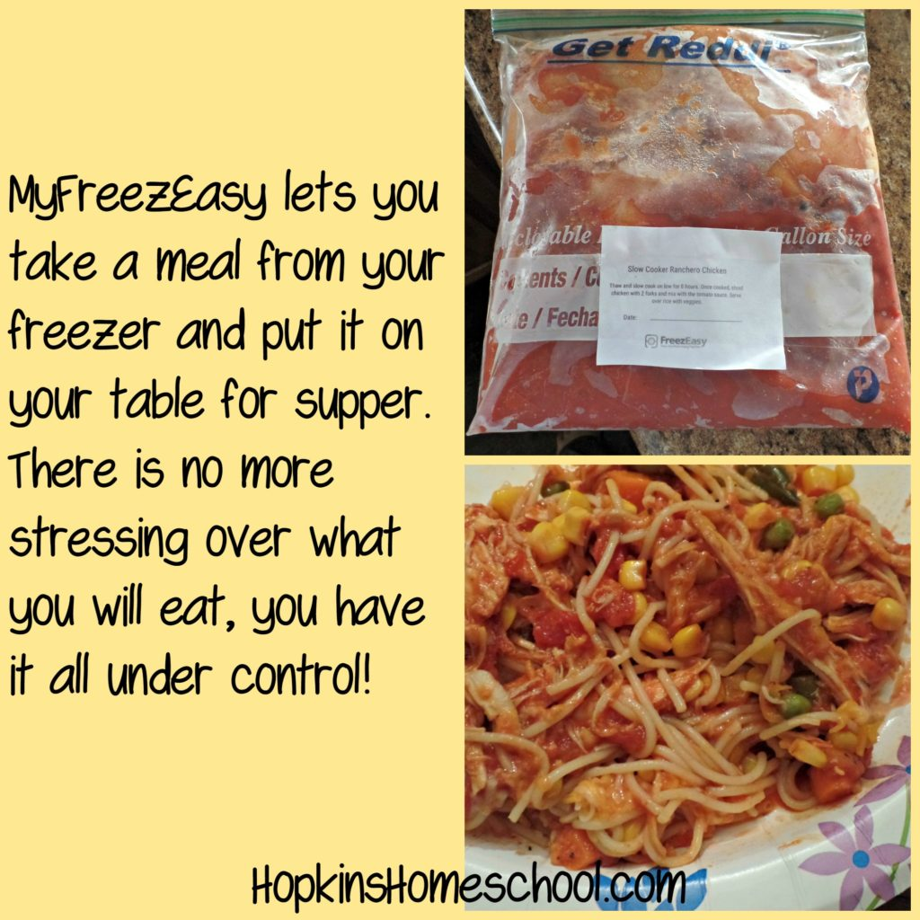 MyFreezEasy Freezer to Table Meals