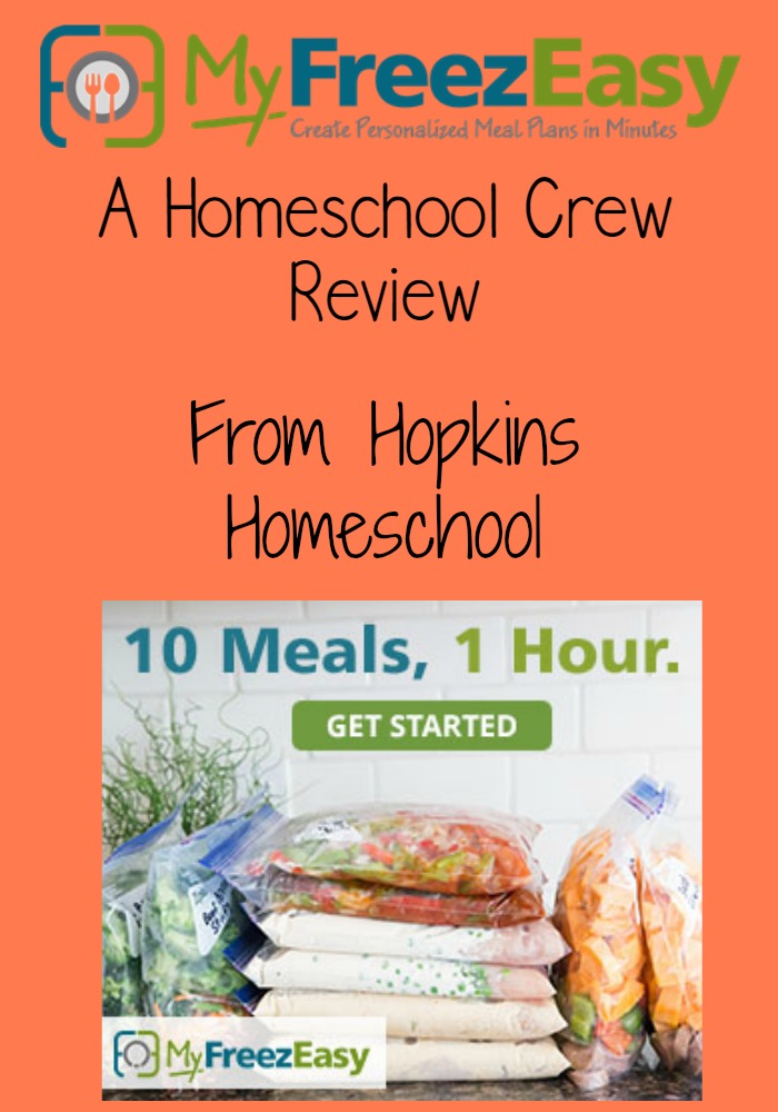 Freezer Meals Made Easy With MyFreezEasy.com ~ A Homeschool Review