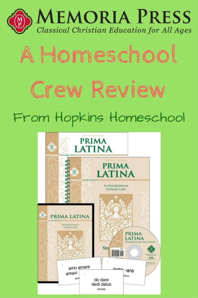Prima Latina from Memoria Press – A Homeschool Crew Review