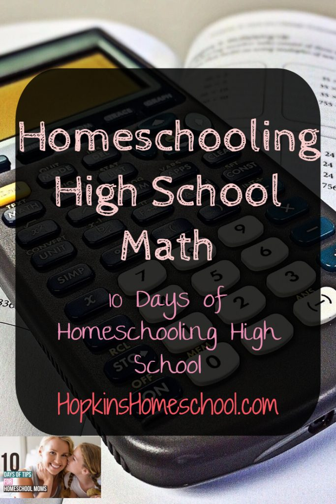 Homeschooling High School Math