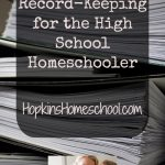 Record-Keeping for the High School Homeschooler
