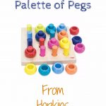 Haba Palette of Pegs – A Timberdoodle Review