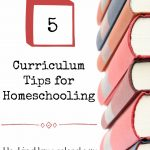 My Top 5 Curriculum Tips for Homeschooling