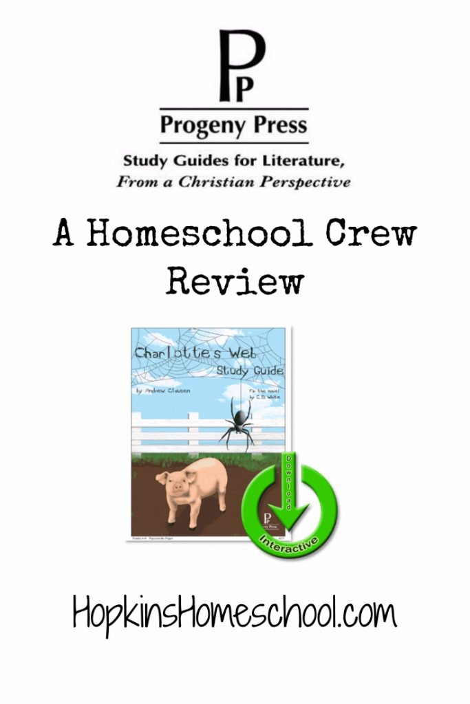 Charlotte's Web E-Study Guide – A Homeschool Crew Review