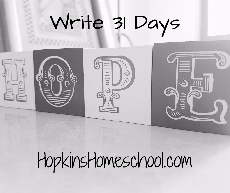 Hope – Write 31 Days