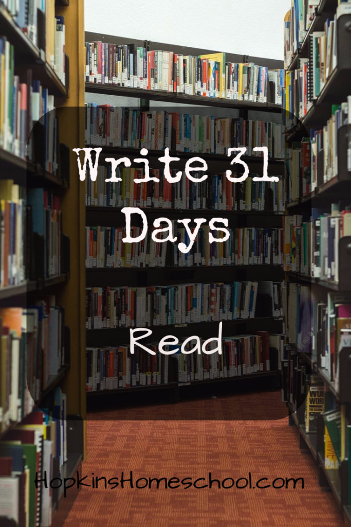 Read – Write 31 Days