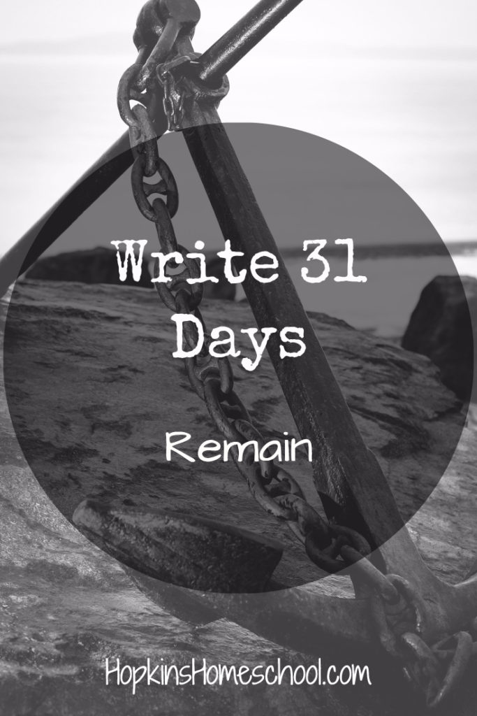 Remain – Write 31 Days