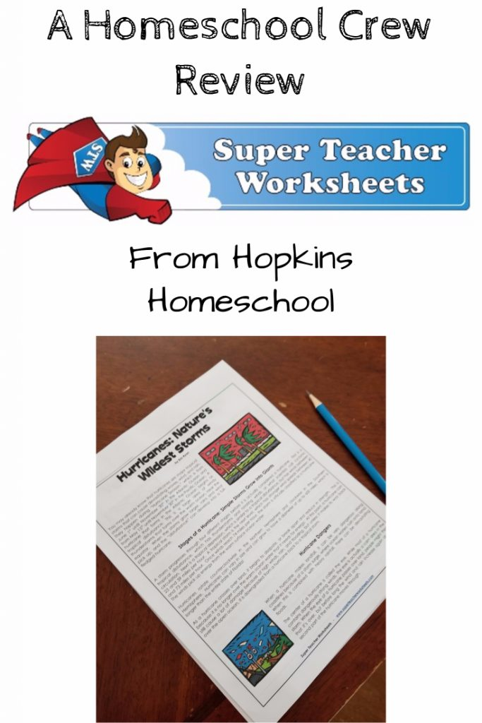 Super Teacher Worksheets – A Homeschool Crew Review