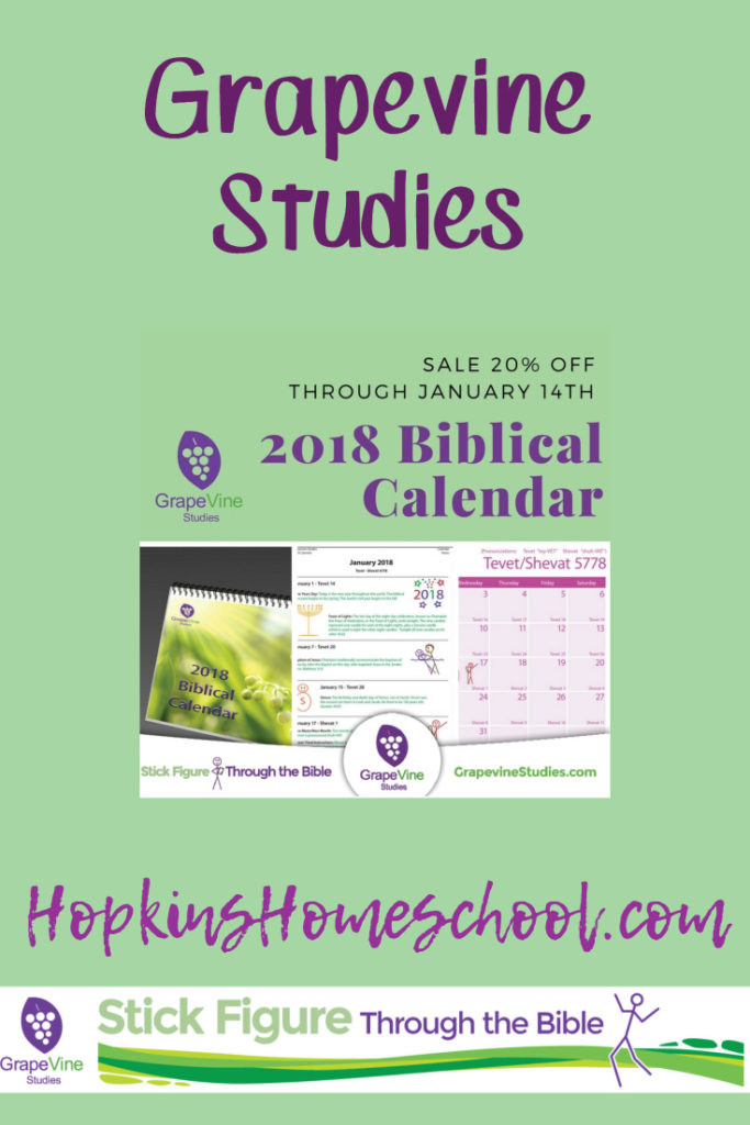 2018 Grapevine Studies Biblical Calendar