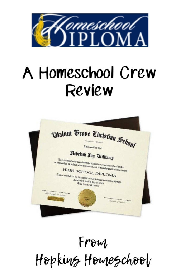 High School Diploma from Homeschool Diploma – A Homeschool Crew Review